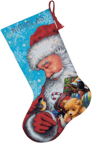 Price comparison product image Dimensions Needlecrafts Needlepoint,  Santa and Toys Stocking
