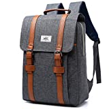 Laptop Backpack For Men Women College Backpack School Bag Waterproof Nylon Dayback Casual Travel Bag Anti Theft for Laptop 15 Inch (Gray)