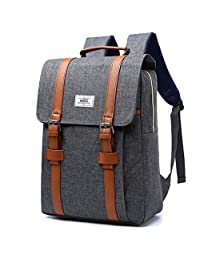 Au207 17 Inch Backpack For Laptop 15,6 Inch Waterproof Nylon Dayback Casual Laptop backpack Anti Theft (Gray)