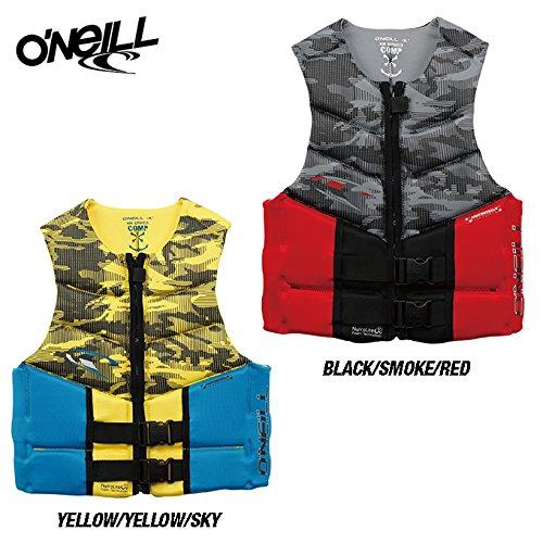 (O'NEILL/オニール)OUTLAW COMP VEST ライフジャケット(2017モデル) B071X3T95T Large|イエロー/イエロー/スカイ イエロー/イエロー/スカイ Large