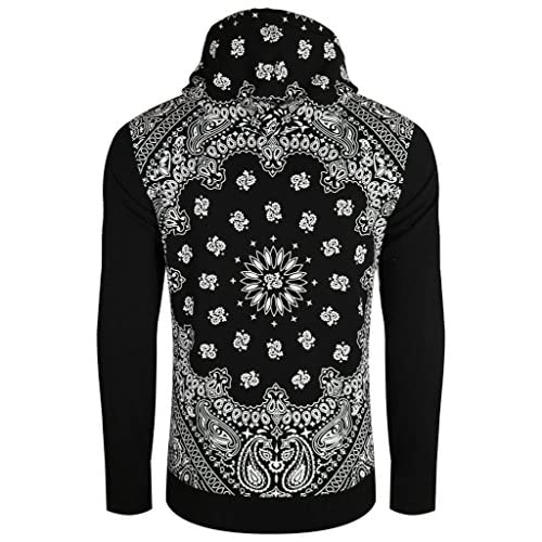 e058c6658df 70%OFF UPSCALE Mens Pullover Paisley Print Hoodie ...
