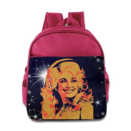 POOZ Dolly Parton Kids School Bagpack For Boys & Girls Pink
