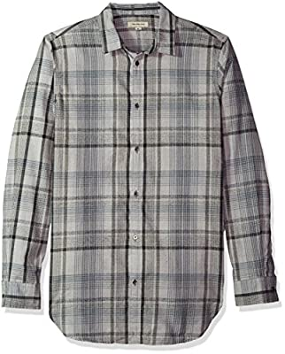 Calvin Klein Jeans Men's Brushed Highland Plaid Button Down Shirt