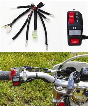 Baja Designs 2011 Dual Sport Upgrade Package EZ Mount Black Motorcycle Ignition Switch Kit 128014