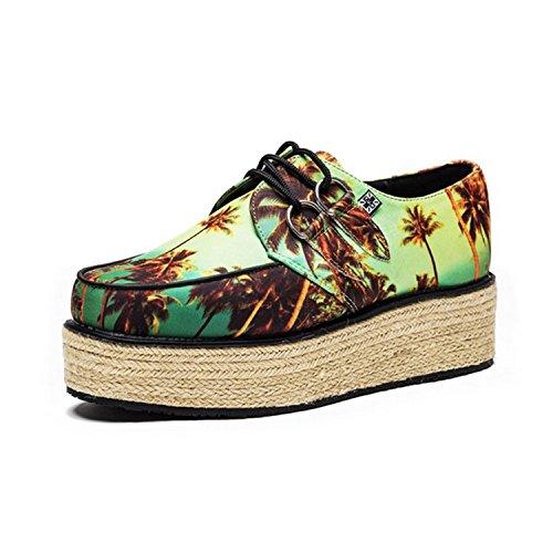 Multi k Sunset u Print Colour Shoes Yo Wraps Women's Creeper T Jute 5XvwqOp