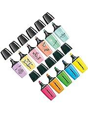 Stabilo Boss Mini markery do tekstu, zestaw 5 sztuk, żółty, niebieski, zielony, pomarańczowy, różowy i zakreślacze – Stabilo Boss Mini pastelowy marker – zestaw 6 sztuk