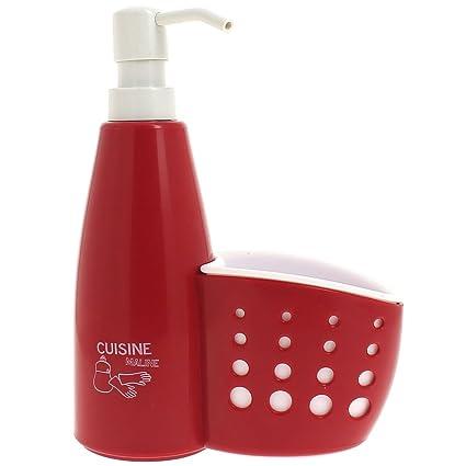 Promobo-Set-Dispensador de jabón líquido lavavajillas puerta de rizo 2 en 1,