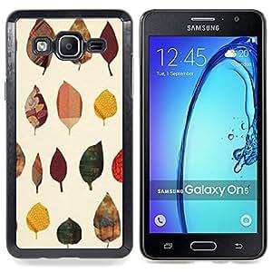 Leaves Poly Art Minimalist Caja protectora de pl??stico duro Dise?¡Àado King Case For Samsung Galaxy On5 SM-G550FY G550