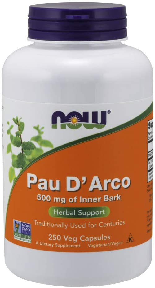 Pau D Arco, 500 mg, 250 cápsulas - Now Foods