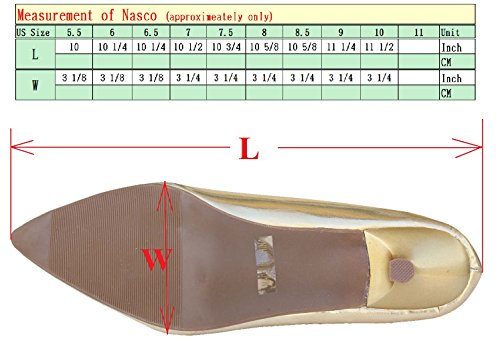 Pumps Point Womens Slip Shoes Heel On Low Gold Toe Nasco DeBlossom CzwaqxXFn