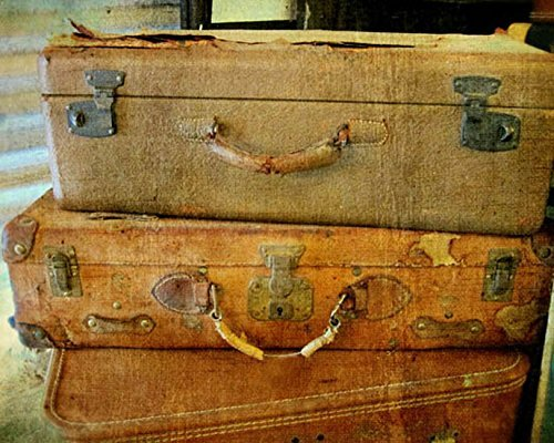 Luggage Photo vintage suitcase photography 8x10 inch print