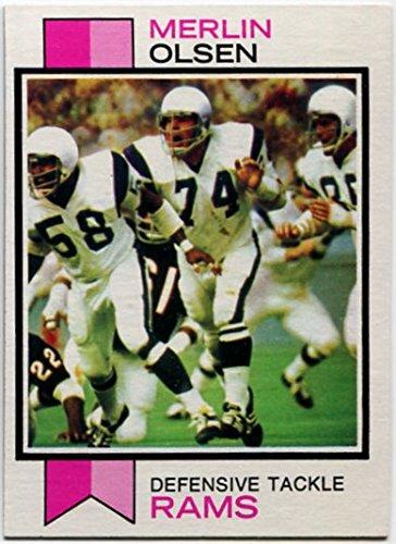 - Topps 1973 Merlin Olsen Card #479 Los Angeles Rams Utah State