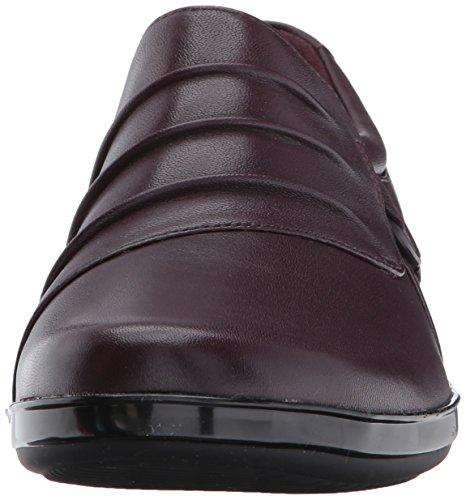 Aubergine CLARKS Loafer Slip Everlay Leather CLARKS Womens on Heidi Womens Hwpq8BTS
