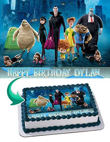 Hotel Transylvania Edible Cake Image Personalized Icing Sugar Paper A4 Sheet Edible Frosting Photo Cake 1/4 ~ Best Quality Edible Image for cake