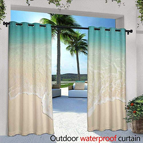 berrly Patio Curtains,Trendy Zebra Stripes Seamless Pattern,W96 x L96 Thermal Insulated Water Repellent Drape for Balcony
