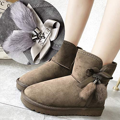 Mantener 黑色 Ug Botas Pelo Más De Phy Nieve Conejo Shoe Terciopelo En Realmente Para Tubo Mujeres El Las Calor UaR5wpx5Wq