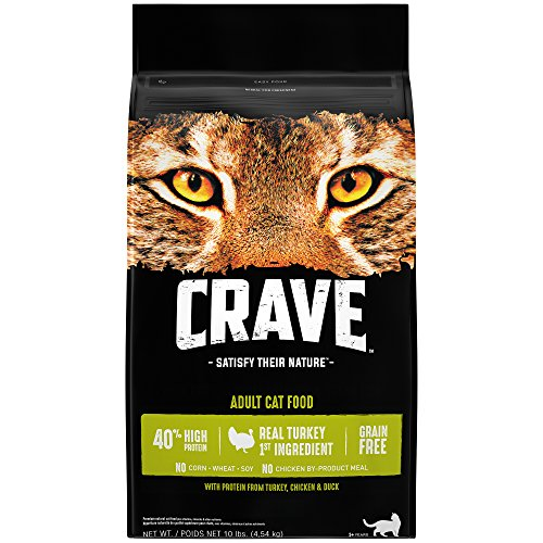 Crave Adult Dry Cat Food With Protein From Turkey, Chicken & Duck, 10 Pound Bag