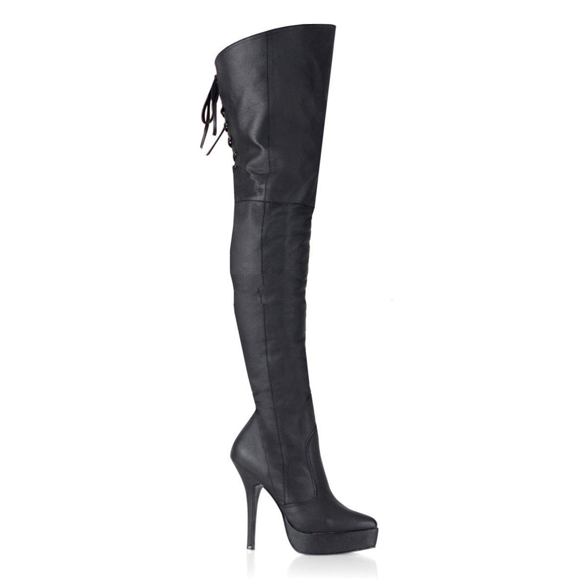 Devious Indulge-3011 - Sexy Fetisch Plateau High Heels Overknee Stiefel 36-48, Größe EU-39   US-9   UK-6