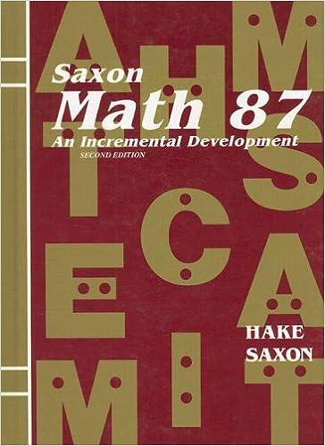 Saxon math 87 student edition 2002 saxon publishers saxon math 87 student edition 2002 1st edition fandeluxe Gallery