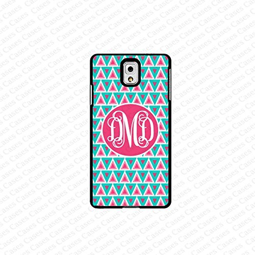 krezy case monogram Galaxy Note 4 case- monogram Personalized pink & blue geometric pattern samsung Galaxy Note...