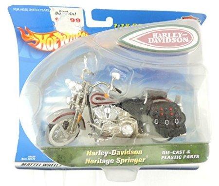 Hot Wheels Harley-Davidson Heritage Springer 1:18 Die-Cast Motorcycle - Heritage Springer Diecast Motorcycle