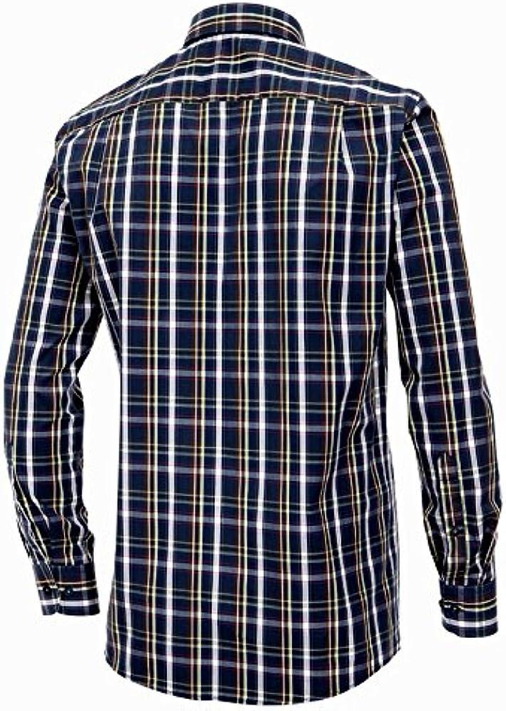 Casa Moda Camisa Manga Larga Azul-Marrón-Verde Claro a Cuadros Oversize, 2xl-8xl:4XL: Amazon.es: Ropa y accesorios