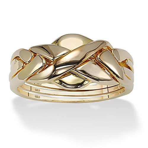 toscana 18k gold sterling silver puzzle ring