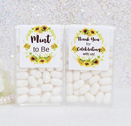 Mint To Be Favors (24 Tic Tac Labels, Mint Labels, Tic Tac Labels, Tic Tac Favors, Mint to Be Favor Labels, Sunflower Tic Tac)