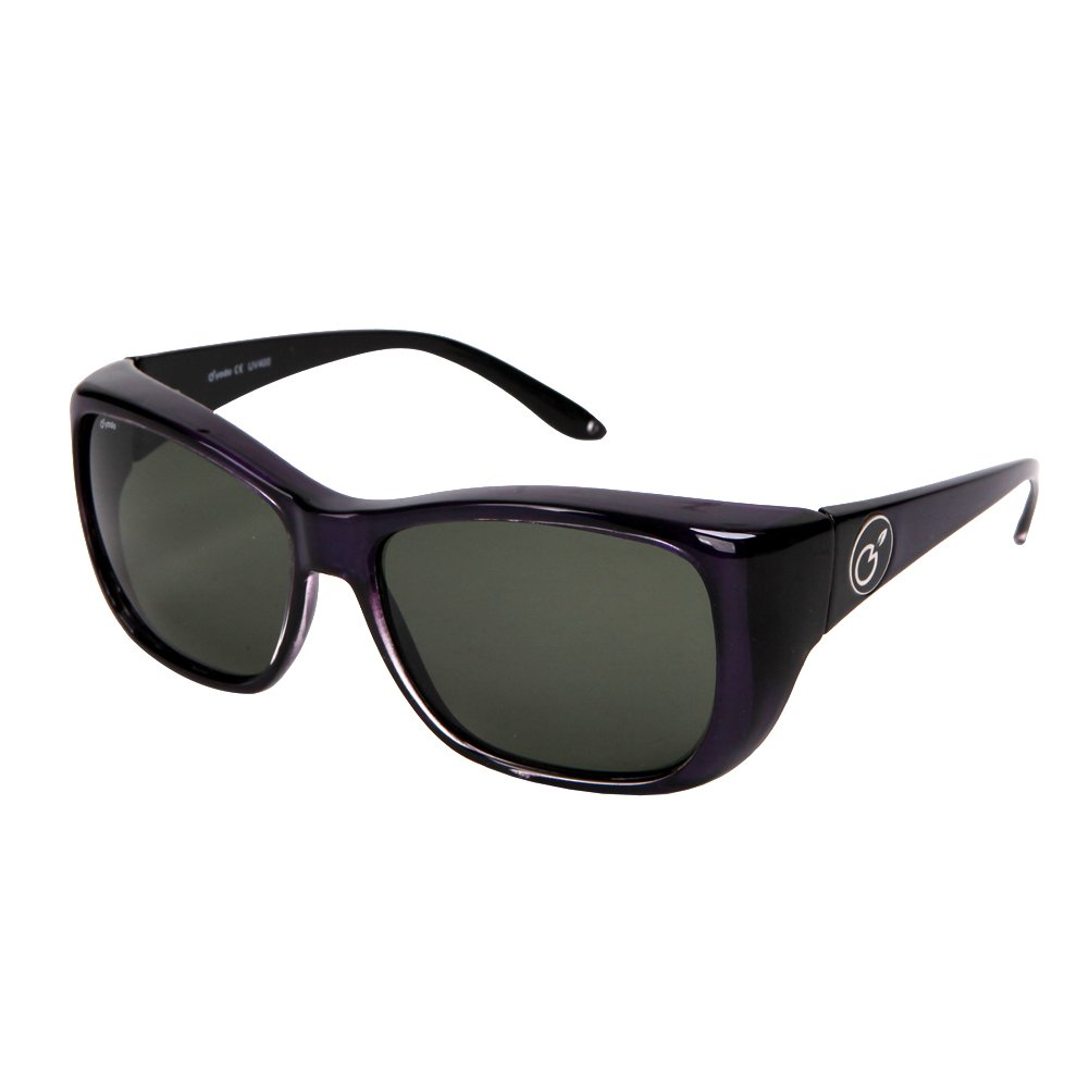 yodo Fit Over Glasses Sunglasses with Polarized Lenses for Men and Women,Purple