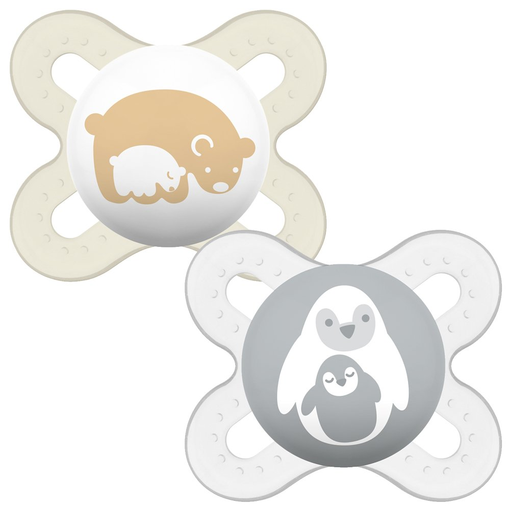 MAM Start Soother Suitable 0-2 Months with Sterilisable Travel Case - Pack of 2 SR2802U