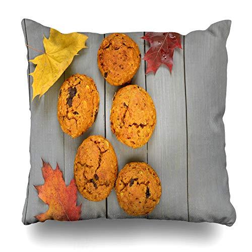 Suesoso Decorative Pillows Case 18 X 18 Inch Pumpkin Cookies Chocolate SpaceThrow Pillowcover Cushion Decorative Home Decor Nice Gift Garden Sofa Bed Car