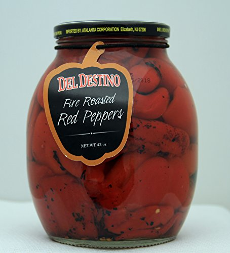 Del Destino Fire Roasted Red Peppers 42 Oz