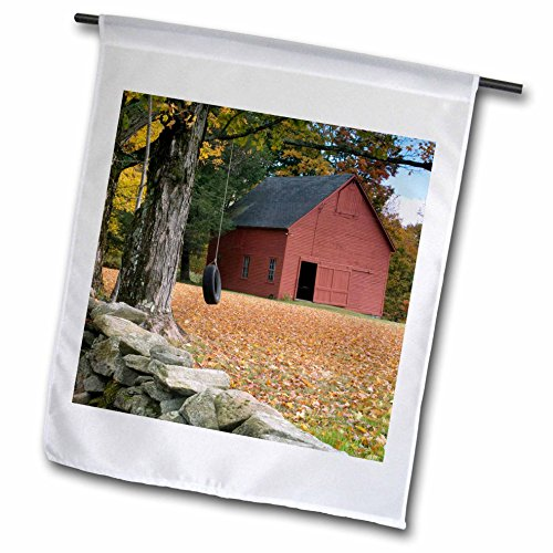 3dRose fl_95051_1 Tire Swing Along a Road in Southern Vermont, USA-US46 RKL0004-Raymond Klass Garden Flag, 12 by 18-Inch -  3D Rose - LG