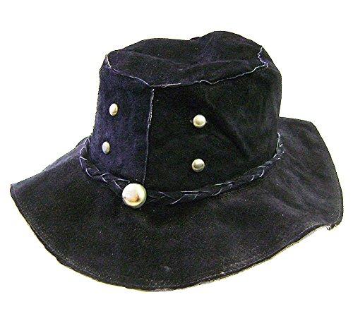 Modestone Floppy Suede 4 Bronze Metal Studs Metal Stud Hatband Hippie Hat M