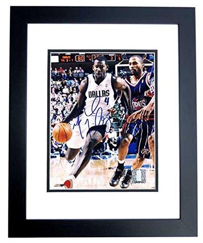 Michael Finley Signed - Autographed Dallas Mavericks 8x10 inch Photo BLACK CUSTOM FRAME - Guaranteed to pass PSA or JSA - Black Dallas Mavericks Frame