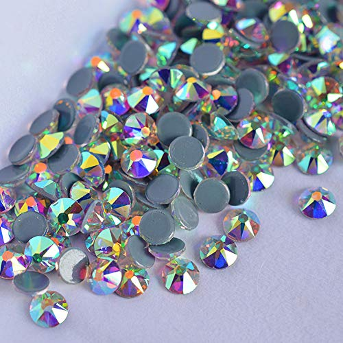 (UPRIVER GALLERY 16 Facets AB Rhinestones Hotfix Rhinestone Flatback Crystals (Crystal AB SS16 1440PCS))