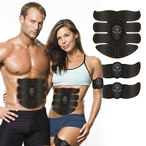Abs Stimulator, Portable Muscle Trainer with Rhythm & Soft impulse - 6 Modes & 10 levels with Simple Operation - ABS Toner Fitness Equipment For Abdomen/Arm/Leg Training Abdominal Muscle Exerciser