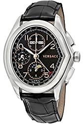Versace Master Black Dial Black Crocodile Leather Mens Watch 20A99D009 S009