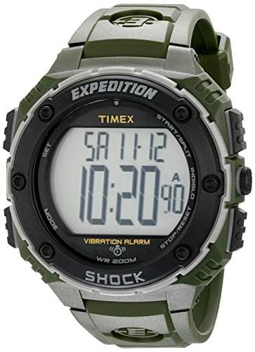 - Timex Men's T499519J Expedition Shock XL Green Resin Watch
