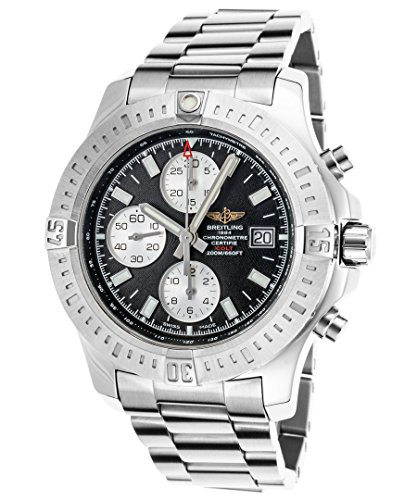 Breitling Chronomat Colt Chronograph Stainless Steel Auto 44mm Mens Watch Bracelet A1338811/BD83 (Certified - Image Steel Stainless Actual