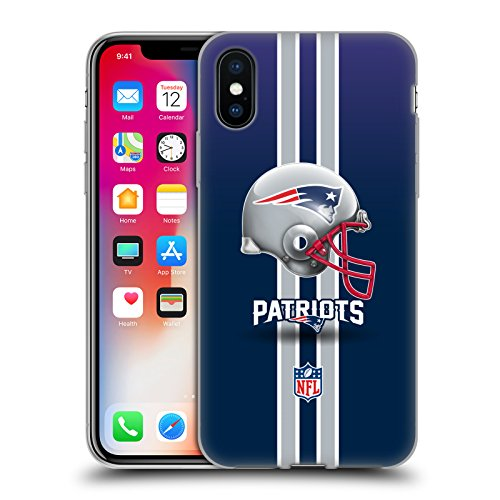 New England Patriots Logo Soft Gel Case for Apple iPhone X (New England Patriots Helmet Logo)