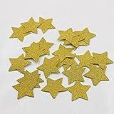 Mybbshower 1.5 inch Gold Glitter Adhesive Star