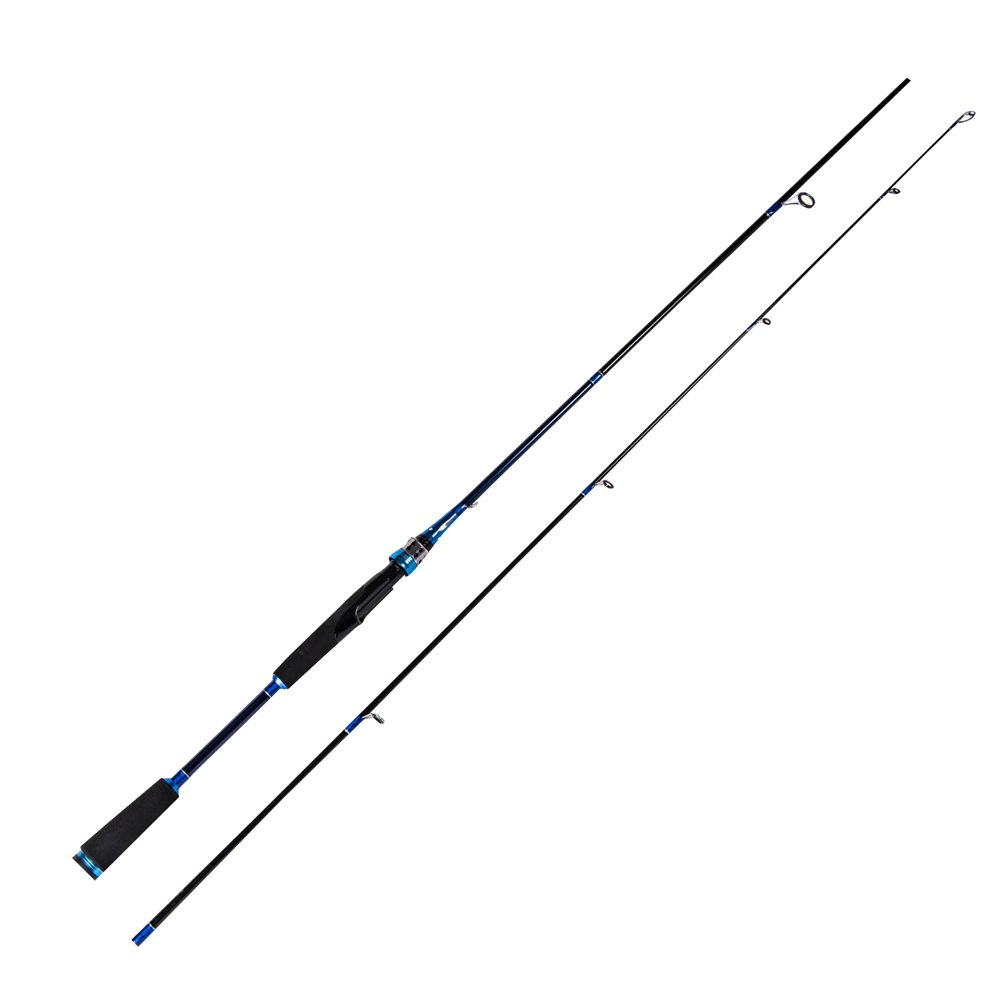 Entsport 2-Piece Spinning Rod Graphite Portable Spinning Fishing Rod Inshore Spinning Pole Freshwater Spin Rod (8-20-Pound Test)