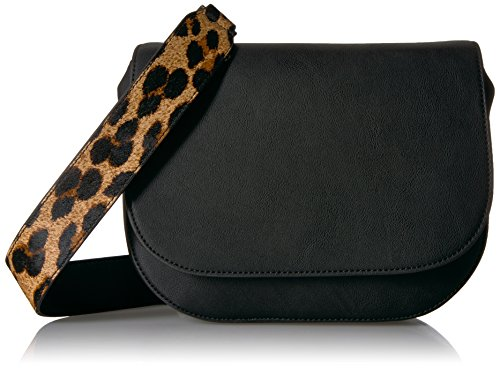 Amazon Brand - The Fix Colby Convertible Guitar Strap Saddle Bag, Leopard Print