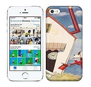 Loving Pop A-cute-antique-illustration-by-Takeo-Takei-of-a-dog-and-a-bunny-rabbit-in-a-house-643x906 phone case for iphone 5/5s