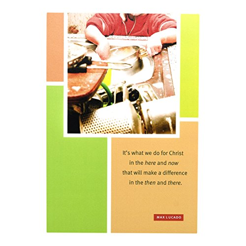 DaySpring Max Lucado Thank You Greeting Cards w Embossed Envelopes - Dishes, 6 Count
