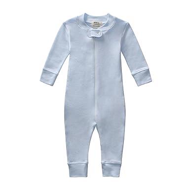 93544f53a Amazon.com  Owlivia Organic Cotton Baby Boy Girl Zip up Sleep N Play ...