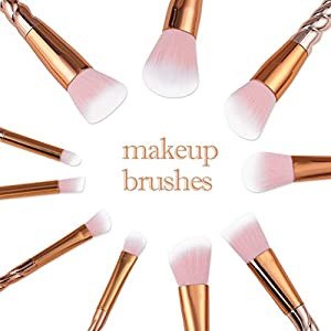 Firming 10PCS Unique Unicorn Makeup Brushes Set Practical and Professional Cosmetic Tools Kit Rose Gold