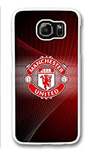 Galaxy S6 Case, S6 Cases, Custom Manchester United Galaxy S6 Bumper Case [Scratch Resistant] [Shock-Absorbing] Hard Plastic White Protective Cover Cases for New Samsung Galaxy S6