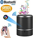 WIFI 1080P HD Spy Cam Bluetooth Speaker Cam Wireless Nanny Cameras Mini Cam 180°Rotating Wireless All-in-one Security Ip Camera System Video Recorder Motion Detection Real-Time View Cam Stereo Speaker